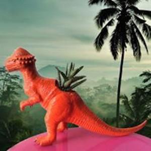 กระถางต้นไม้  ไดโนเสาร์