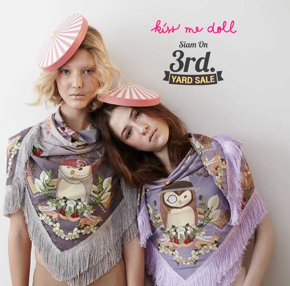 ผ้าพันคอ Kiss me doll