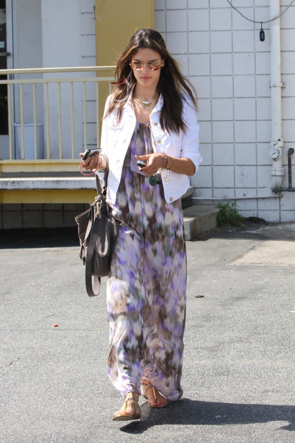 with maxi dress