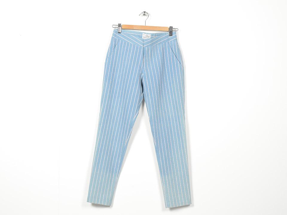 Denim Stripe Pant Blue