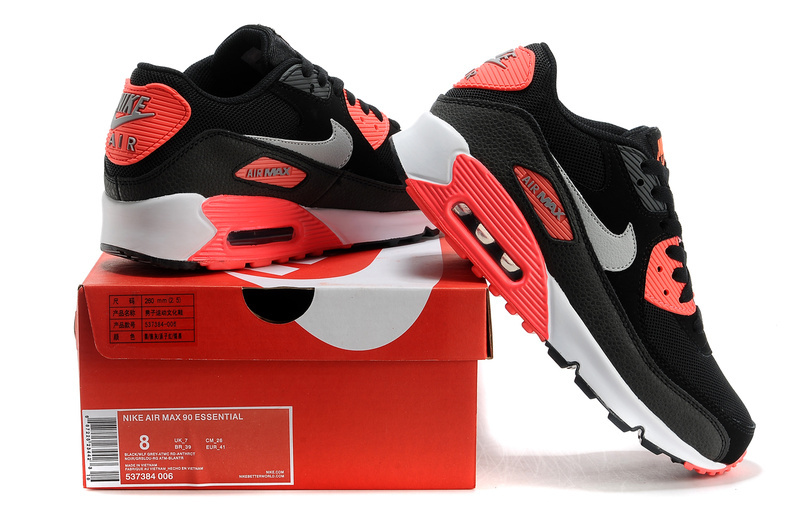 nike air max 90 black wolf grey atomic red