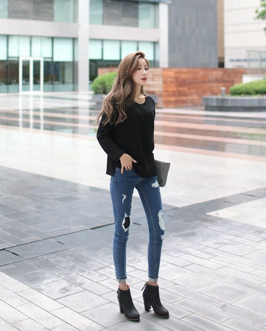 skinny jeans heels12