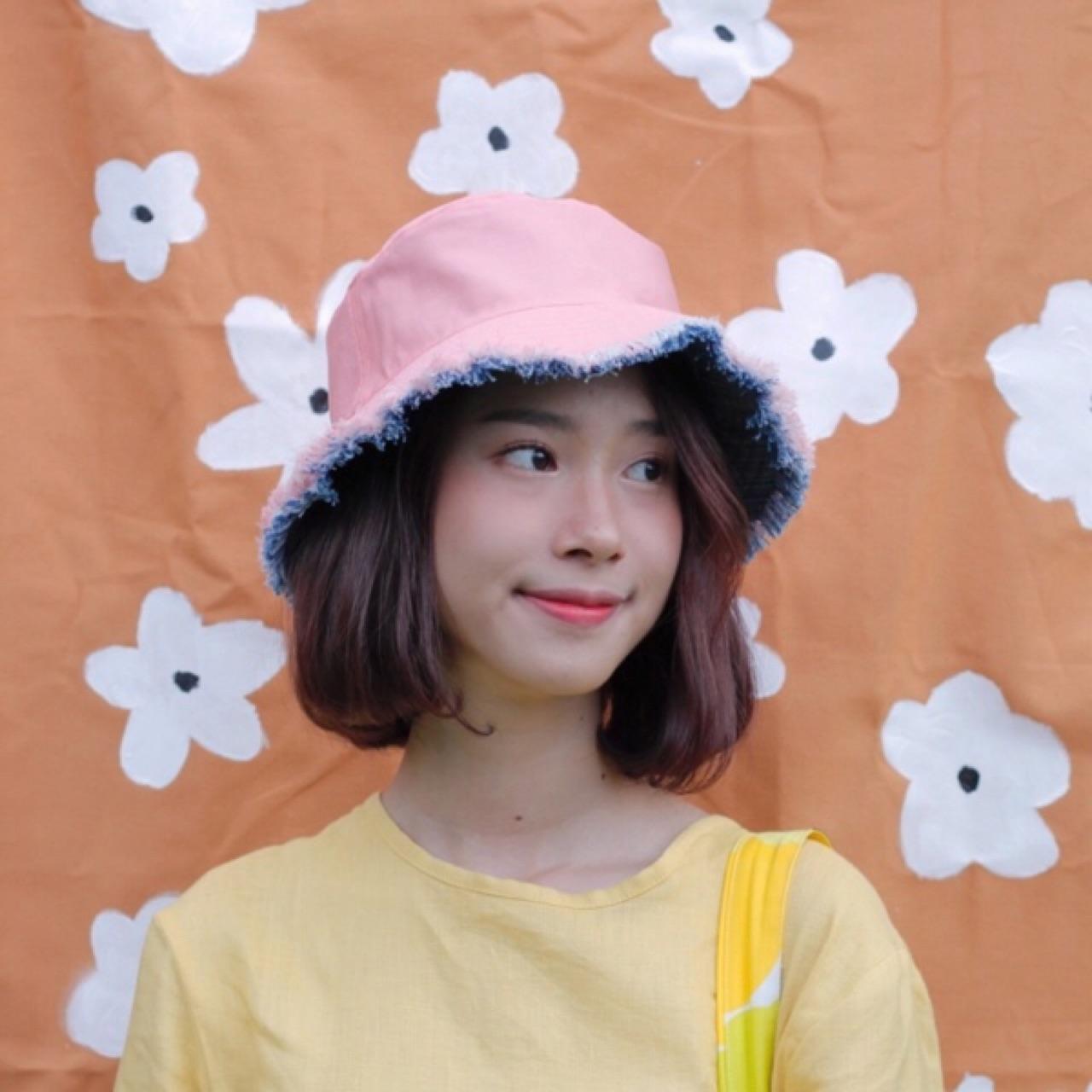 หมวกสีชมพู