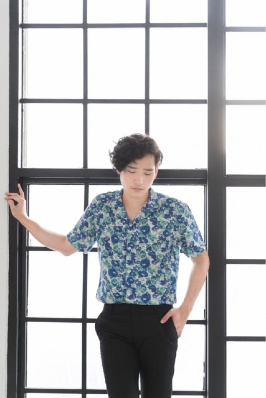 Floral print bowling shirt : 790 THB