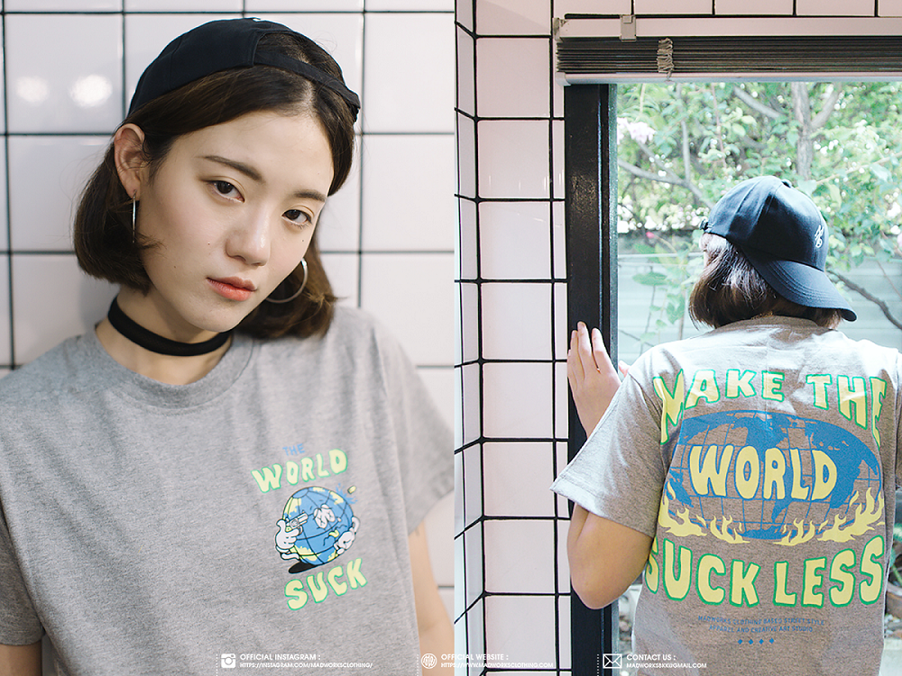 เสื้อยืด MAKE THE WORLD SUCK LESS : 550 THB - MADWORKS CLOTHING -