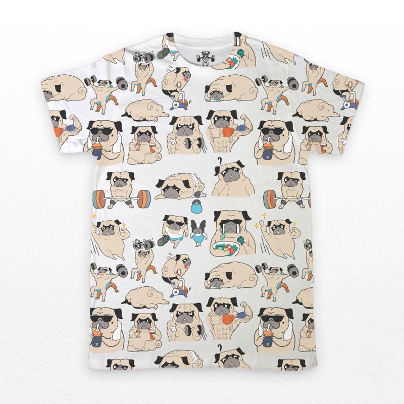 เสื้อยืดคอกลม - Pug Gyn Life : 890 THB - error clothing -