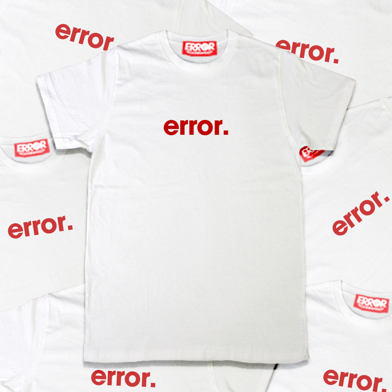 เสื้อยืดคอกลม - ERROR Basic Tee White : 390 THB - error clothing -