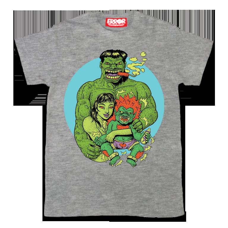เสื้อยืดคอกลม แขนสั้น Hulk's Family : 590 THB - error clothing -