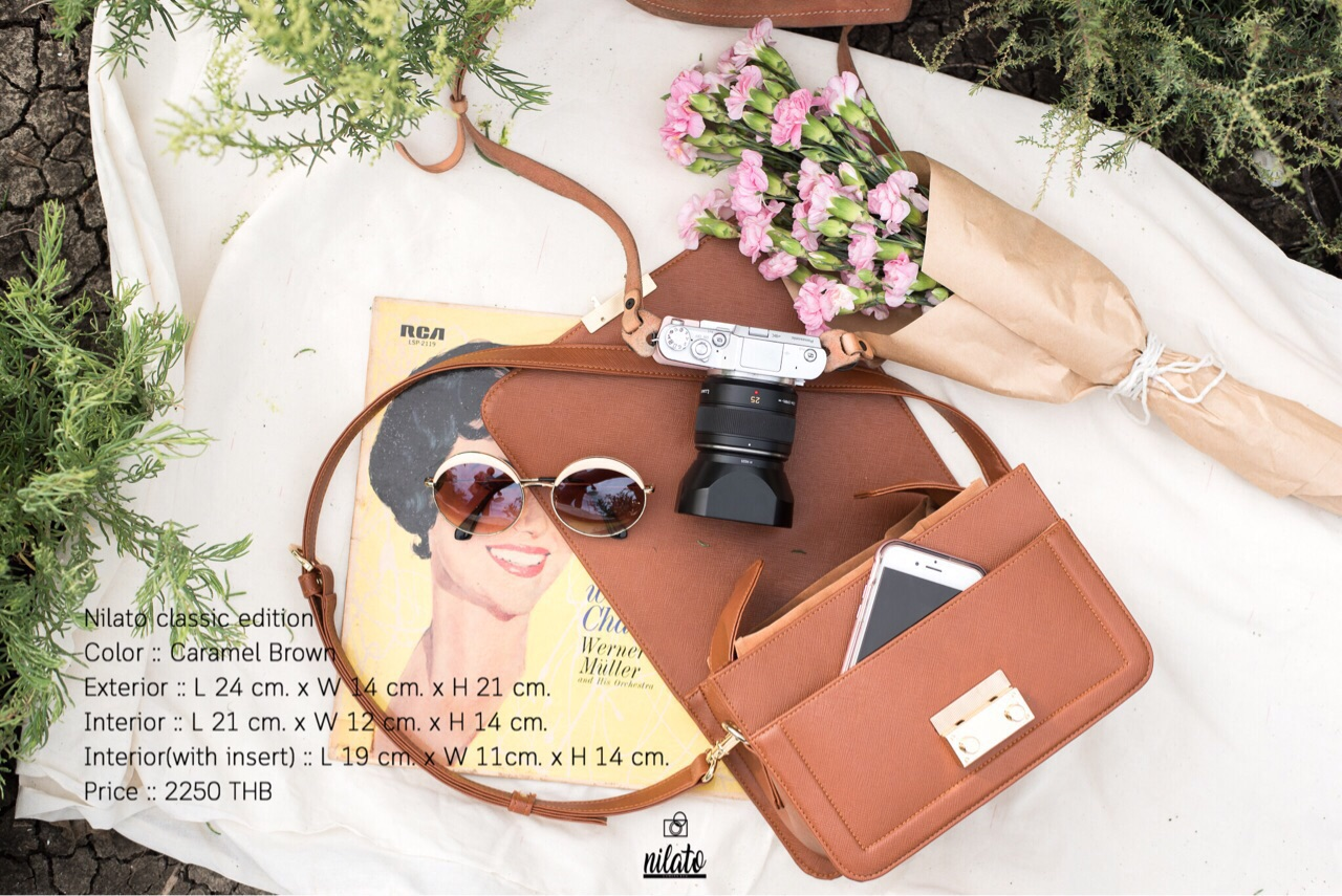 [ Nilato Camera Bag - Caramel Brown - 2,250 THB ]
