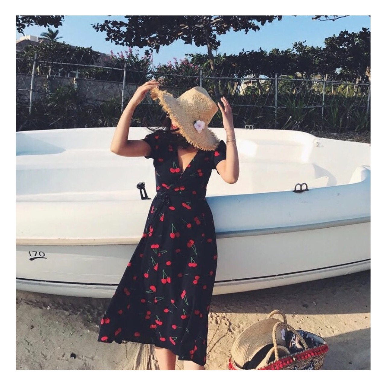 Cherry in the Summer Wrap Dress - 790