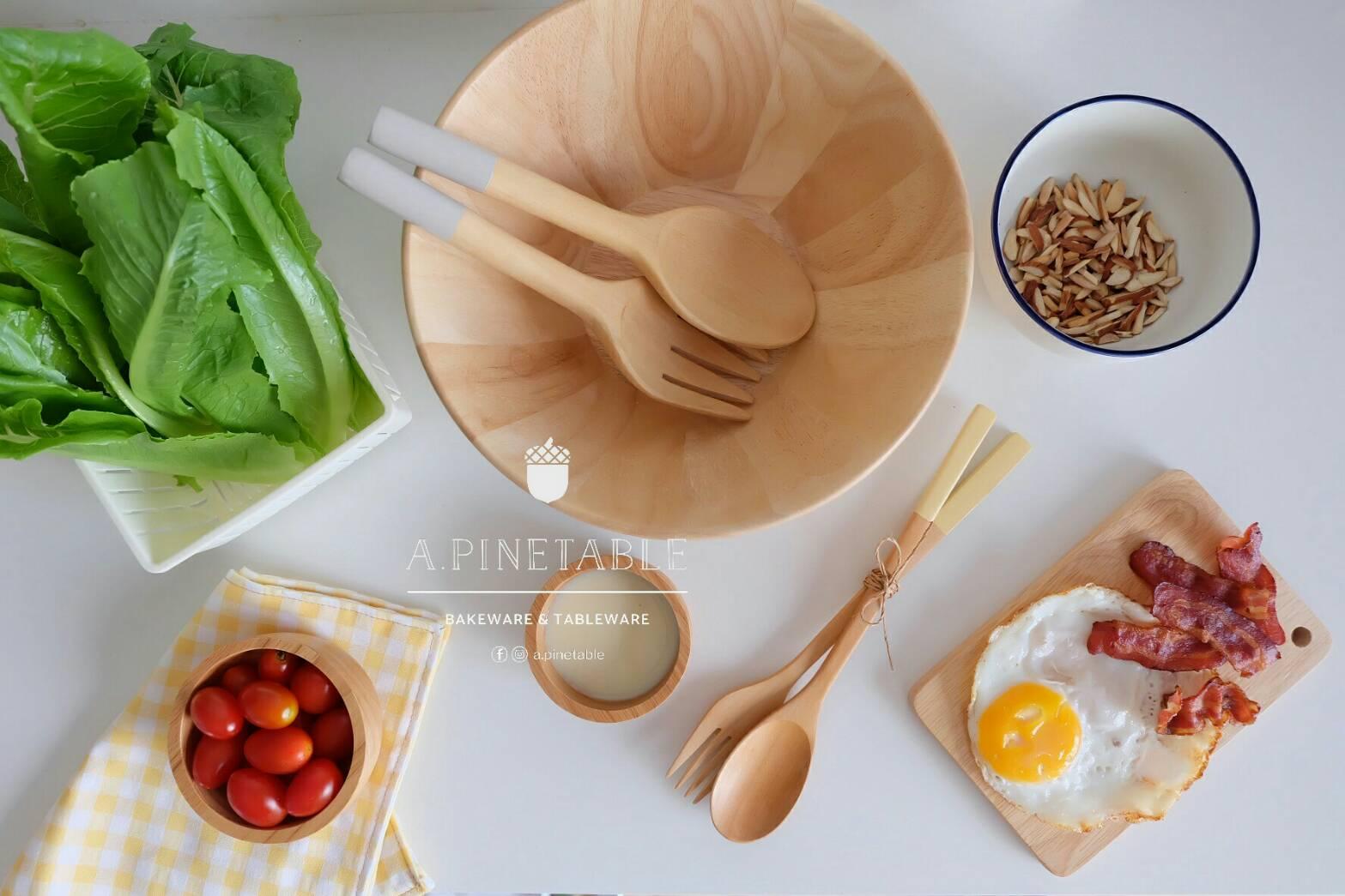 """[ อุปกรณ์เครื่องครัว ชามสลัด Salad bowl 9"""" - 250 THB ]"""