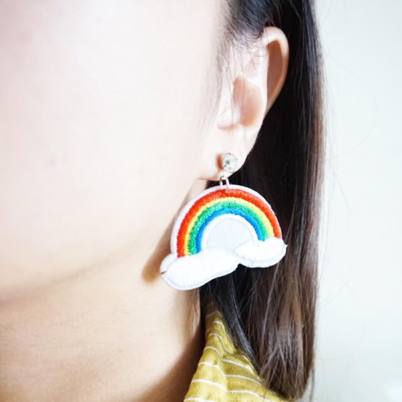 ต่างหู Rainbow earrings