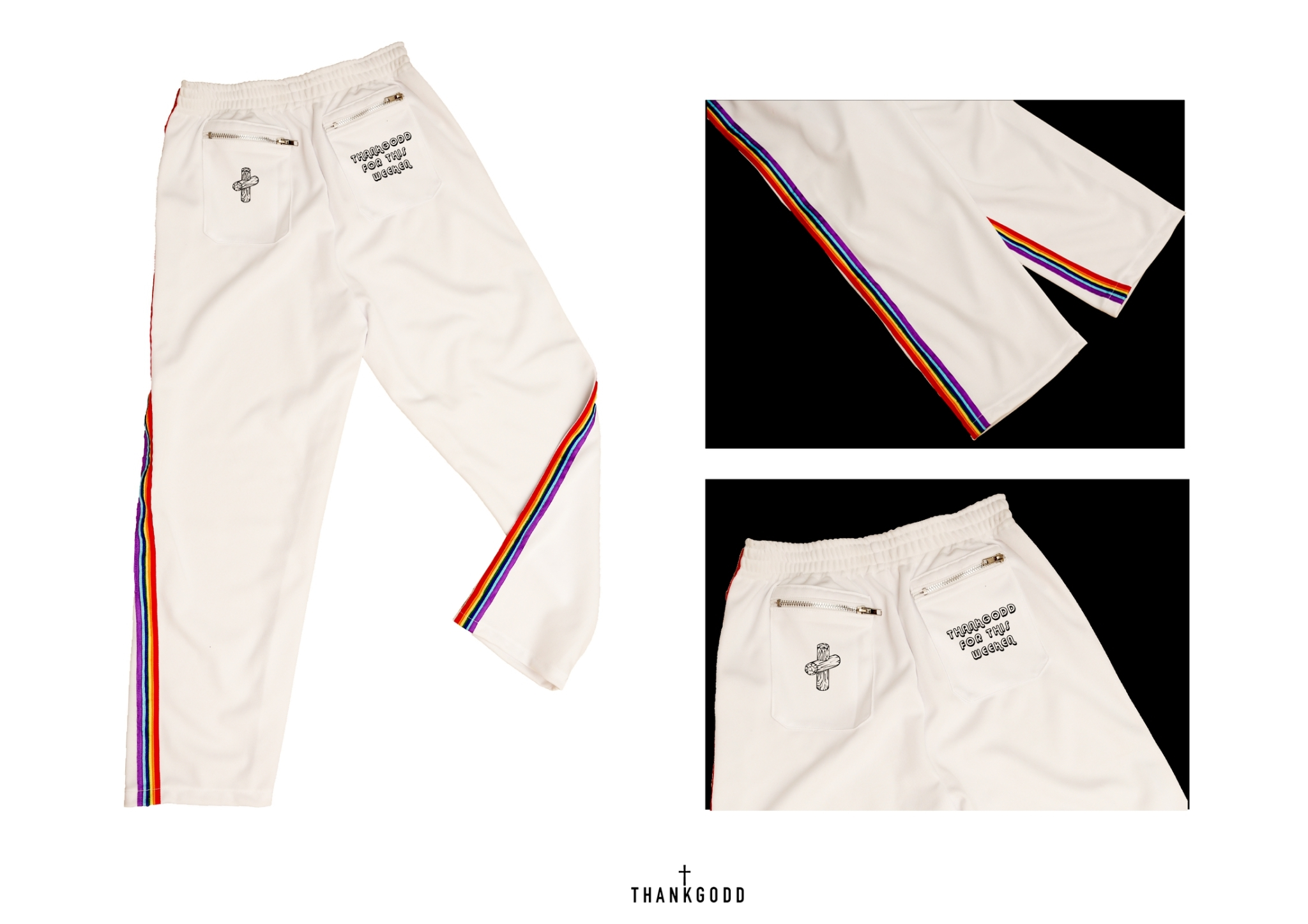 [ THANKGODD RAINBOW PANTS - 700 THB ]