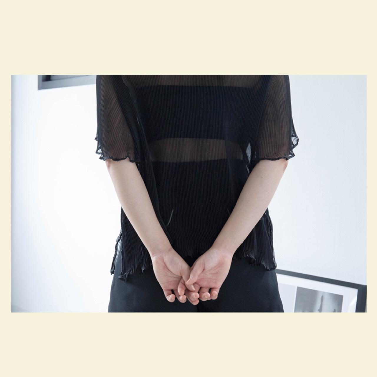 เสื้อชีฟองอัดพลีท_1