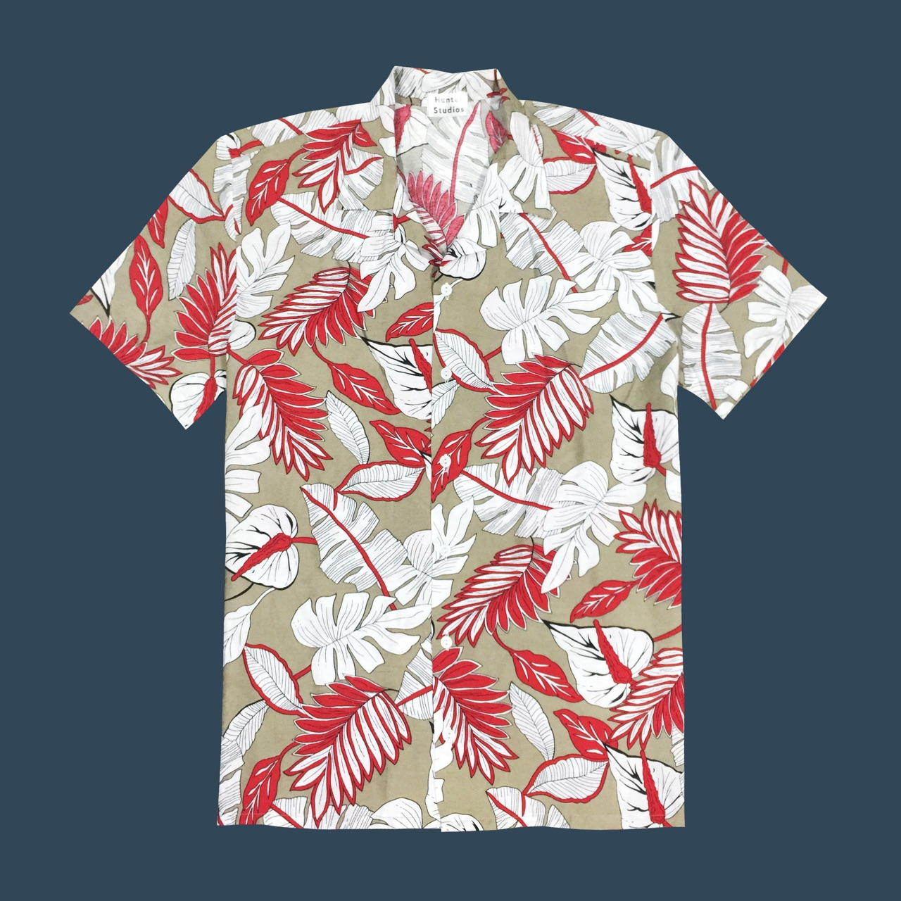 [ Hawaii Shirt (Cream) - 410 THB ]