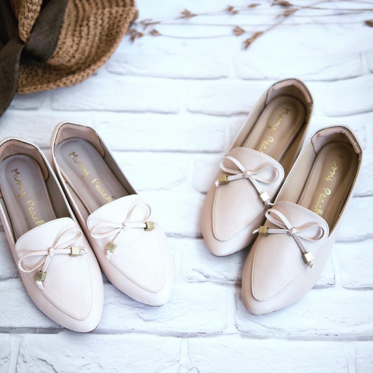 รองเท้า-loaferสีขาวครีม
