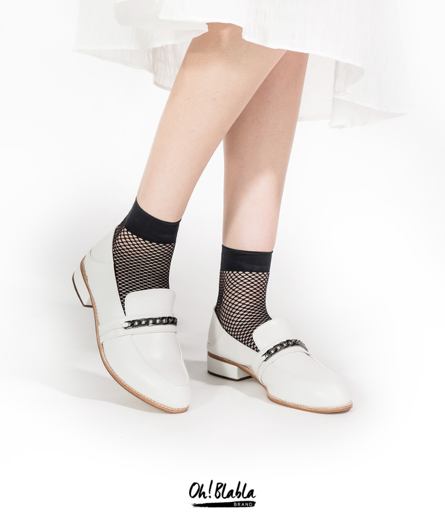 รองเท้า-loaferสีขาว