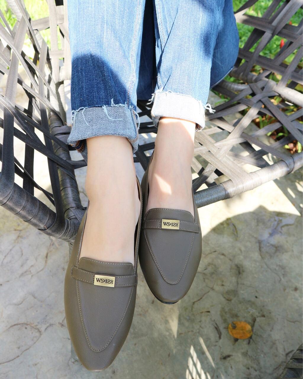 รองเท้า-loaferสีเขียวขี้ม้า_1