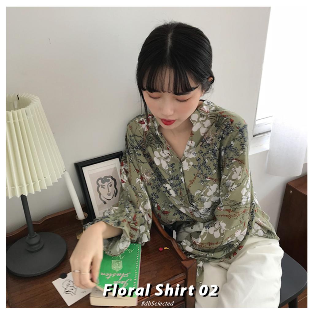 เสริมดวงความรัก-เสื้อลายดอกสีเขียว