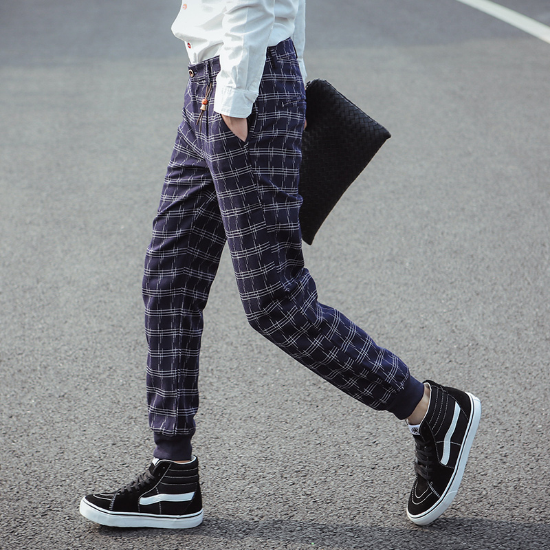 new-arrival-2015-jogger-font-b-men-b-font-fashion-plaid-casual-font-b-pants-b