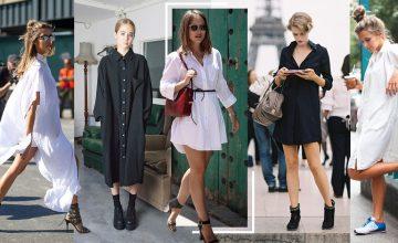Shirt Dress สีขาวดำ สไตล์มินิมอล ตัวเดียวเอาอยู่! ใส่กับอะไรก็ดูดี