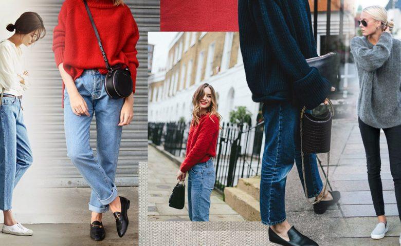 Jeans + Sweater แต่งตัวหน้าหนาว สไตล์คูลๆ แค่จับคู่แบบนี้