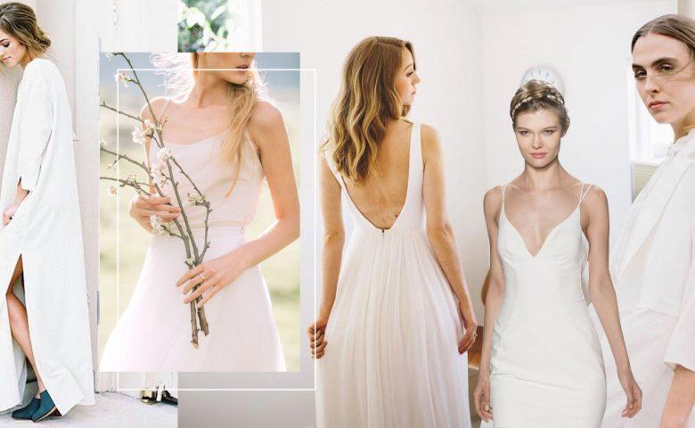 40 สไตล์ Minimal Wedding Dress เรียบแต่โก้ High Fashion