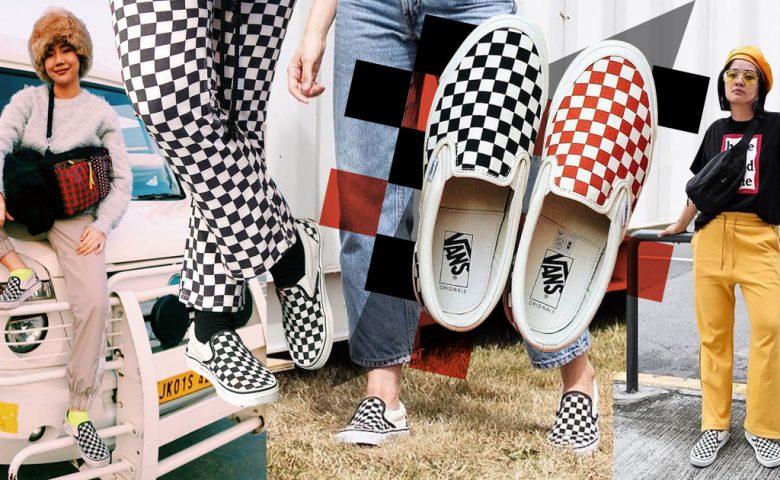 Mix & Match ลุคชิค ๆ กับรองเท้าสลิปออนสายสตรีท Vans Checkerboard