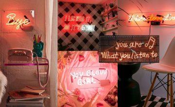 เปลี่ยนห้องเดิมให้มีชีวิตชีวาด้วย Neon Typography วิบวับแบบคนมีสไตล์