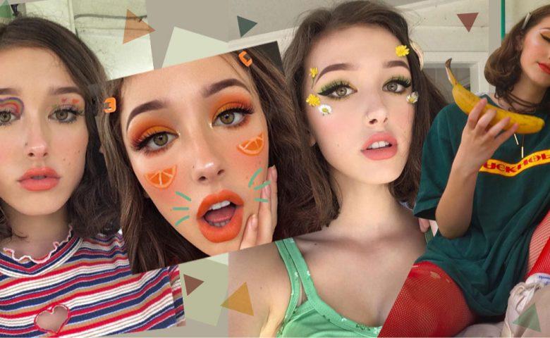 ส่องสไตล์ Make Up สุดยูนีค! ของ Nina Demont