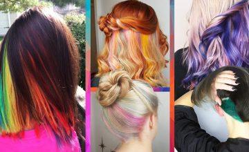 'Hidden hair colors' ซ่อนสีผมด้านใน สร้างสาวสองบุคลิกได้ด้วยการทำสีผมครั้งเดียว
