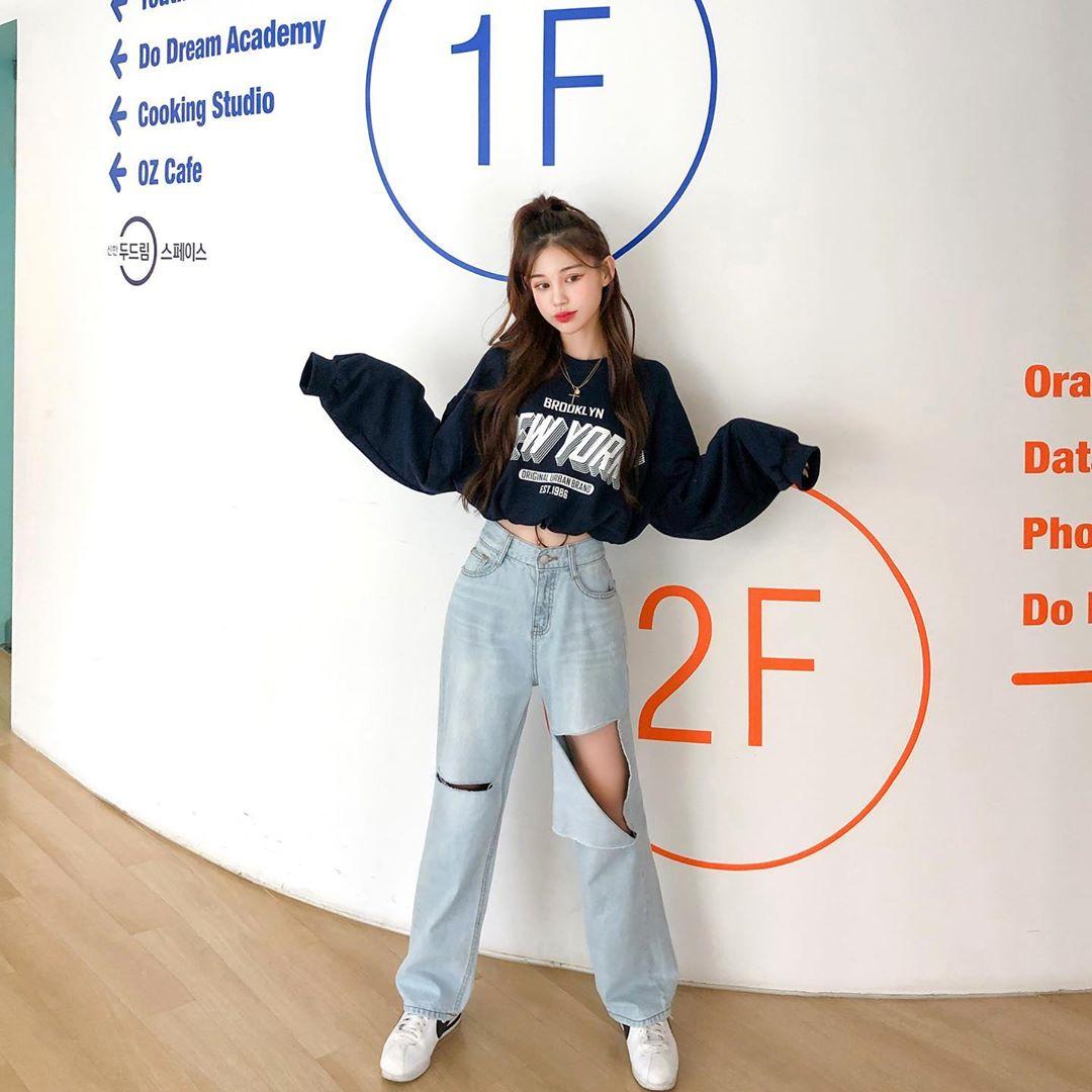 Korean style jeans