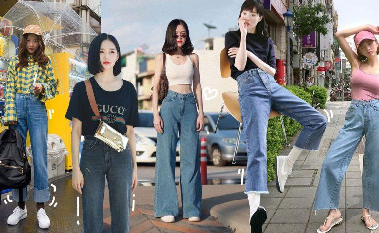 ไอเดียแมทช์ 'กางเกงยีนส์ขากระบอก' สไตล์เกาหลี สวยไม่มีเอ้าท์!