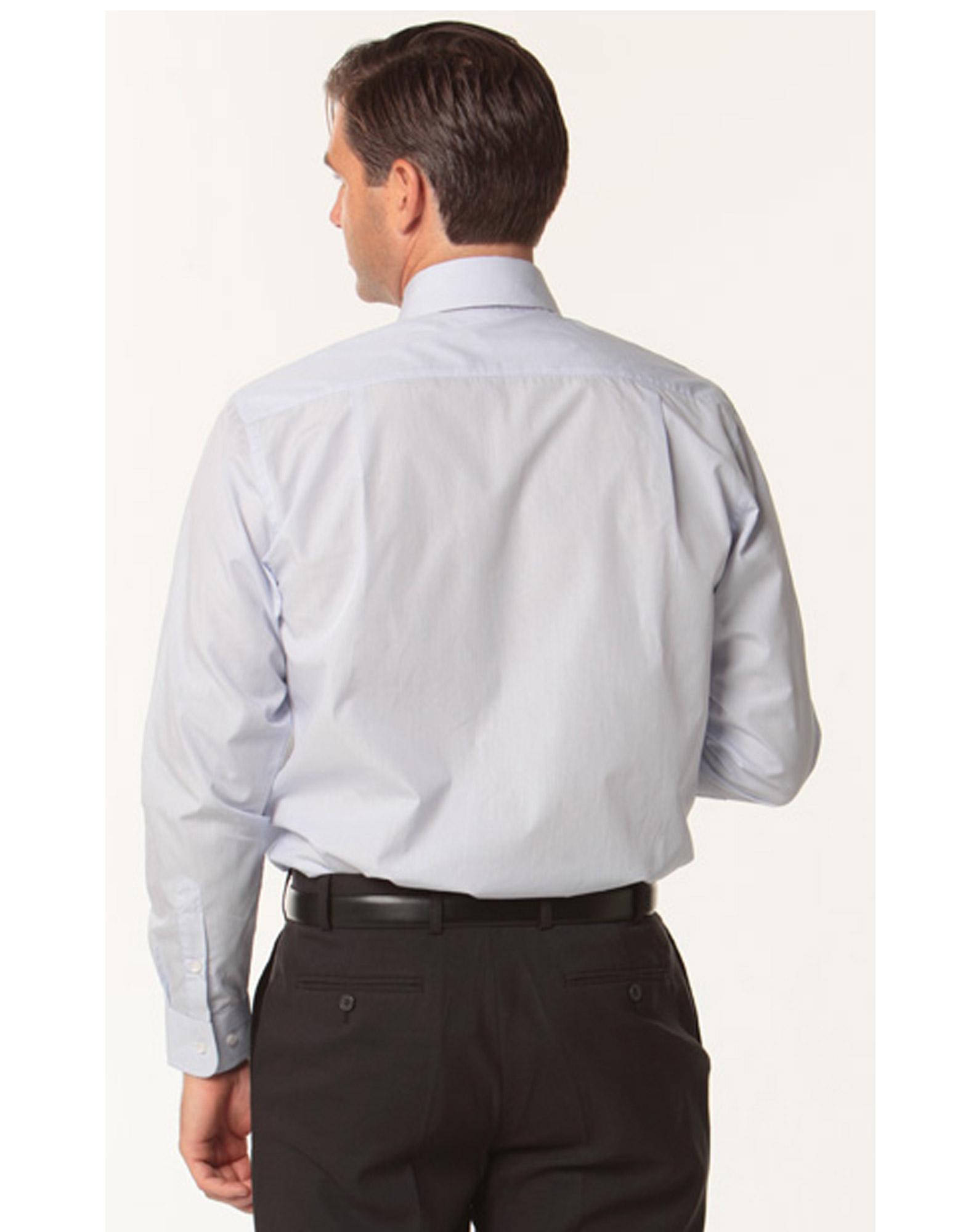 M7362 men s mini check premium cotton long sleeve shirt for Men s dobby shirt