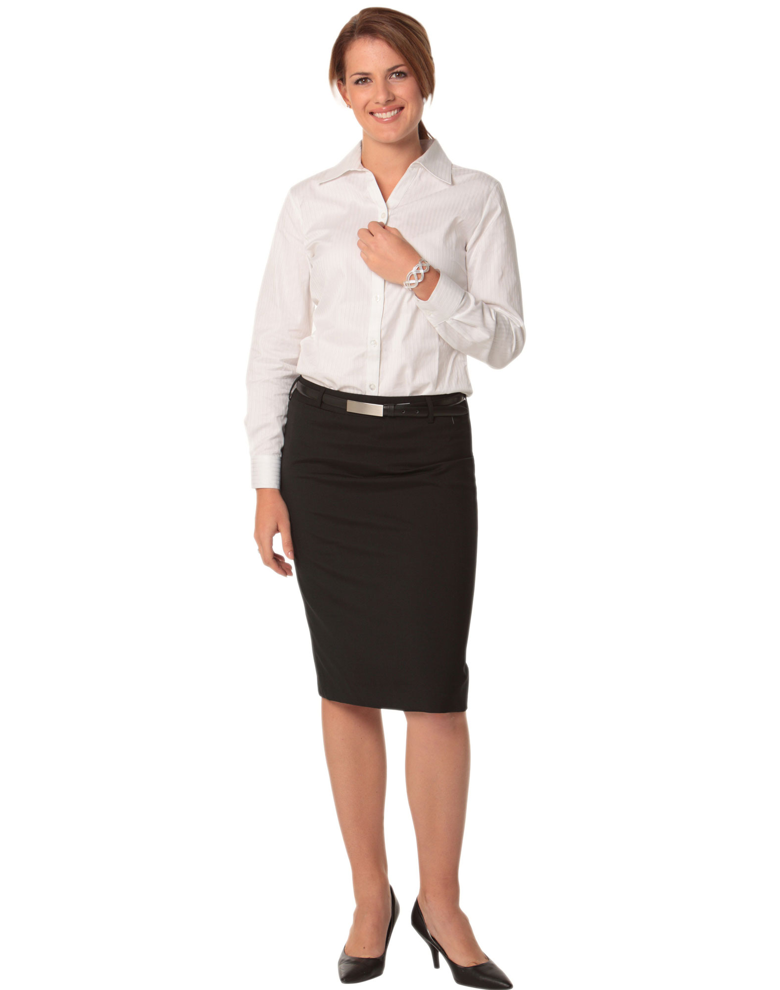 Innovative Lover Women Long Pencil Skirt Black High Waist Bodycon Office Skirts