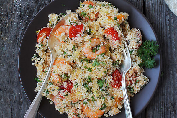 Prawns and couscous salad add to your diet
