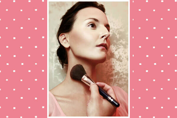 apply bronzer to shape your décolletage