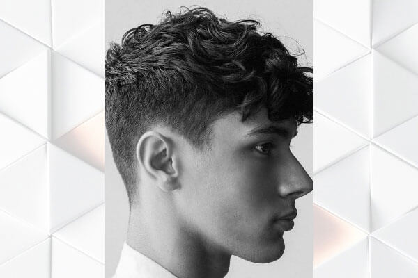 curly hair quiff hairstyle