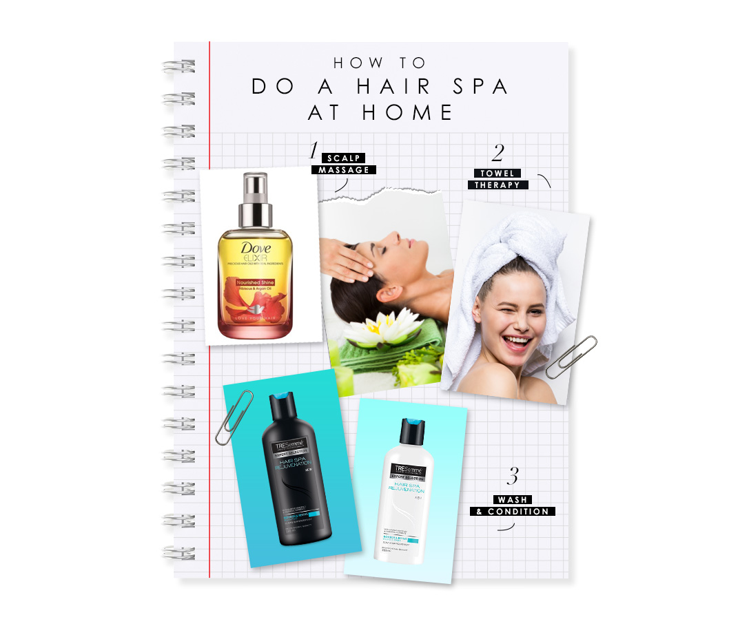 Hair spa how to do hair spa at home bebeautiful for How to make a spa at home