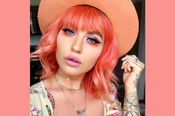 neon peach hair colour
