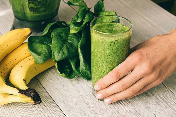peachy green protein smoothie add to your diet