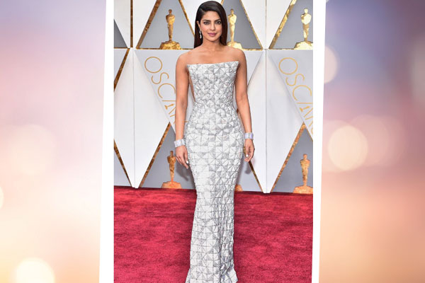 priyanka chopra oscars 2017 red carpet