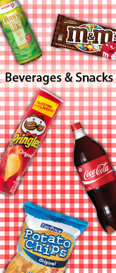 Beverages And Snacks Side Banner