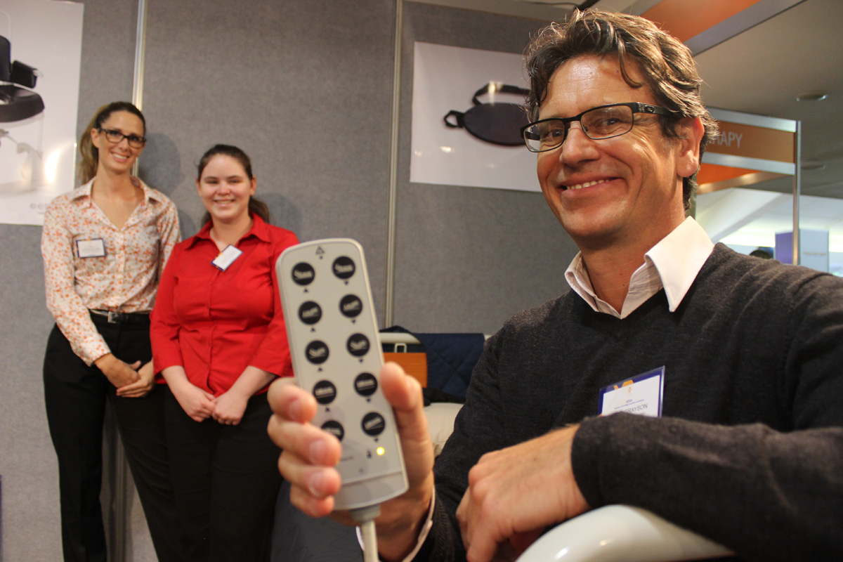 Bloke with assistive technology - news