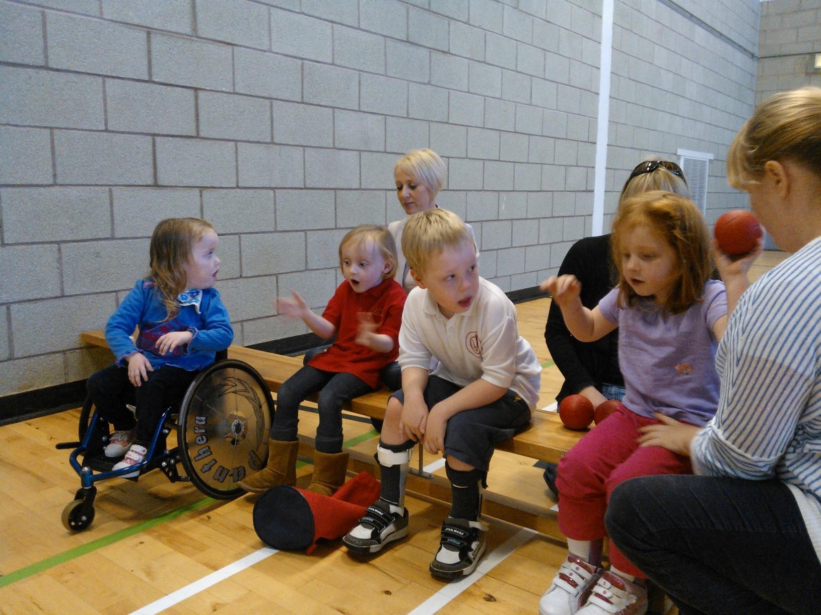 Children in sports club