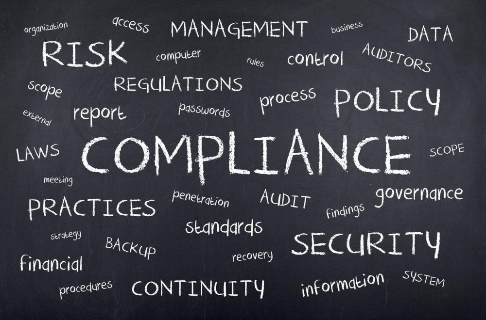 Compliance word cloud on blackboard