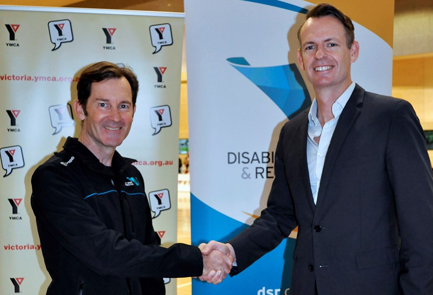 Richard Amon, Chief Executive of Disability Sport & Recreation and Wade Mackrell, General Manager Recreation at YMCA Victoria