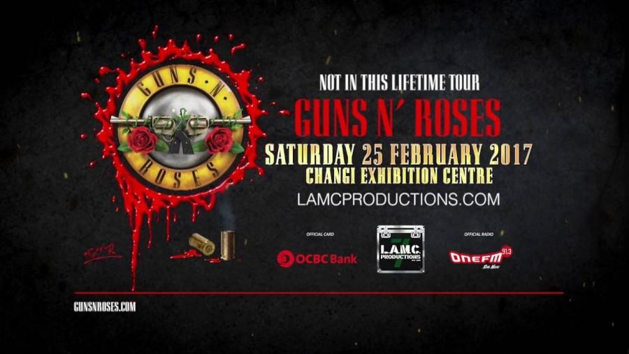 3D2N Guns N Roses Concert Singapore 25 Feb 2017 in Singapore