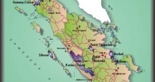 Taman Nasional Sumatera: Peta persebaran. Sumber: http://www.dephut.go.id/INFORMASI/TN%20INDO-ENGLISH/tn_sumatera.htm