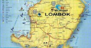 peta lombok - gunung Rinjani